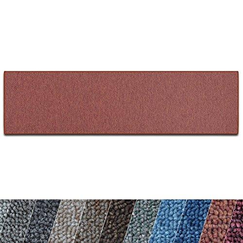 casa pura Teppich Läufer London | Meterware | Teppichläufer für Wohnzimmer, Flur, Küche usw. | flacher Schlingenflor | mit Stufenmatten kombinierbar (Terra - 80x200 cm)