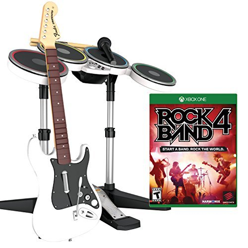 Mad Catz Rock Band 4 Band-in-a-Box Software Bundle for Xbox One - White by Mad Catz - Bundle Xbox Rock Band