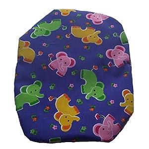 Simple Stoma Cover Ostomy Bag Cover Druckstoff Elefanten Royalblau