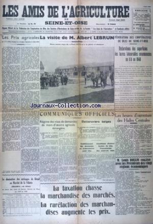 AMIS DE L'AGRICULTURE DE SEINE ET OISE (LES) du 03/05/1940