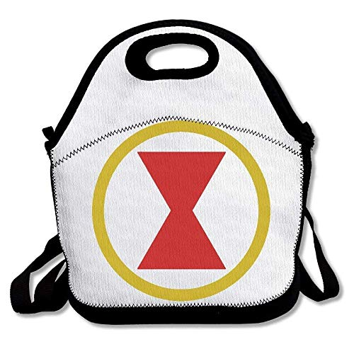 Black Widow Comic Logo Insulated Lunch Bag Tote Lunch Box