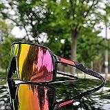 WLCLJJ Occhiali Sportivi da Ciclismo Occhiali da Ciclismo 3 Lenti Occhiali da Ciclismo polarizzati Mountain Bike Occhiali da Sole Ciclismo UV400 Occhiali da Ciclismo (Color : SUP0)