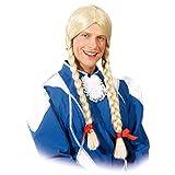 Perruque d'homme avec tresses Coiffe cheveux longs masculin Cheveux ballet d'hommes Coiffure natte danseurs Moumoute de carnaval Hollandaise Tenue enterrement de vie de célibataire