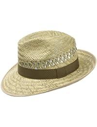 Ernte Strohhut (Bogarthut) für Damen und Herren, luftiger und schöner Sonnenhut, perfekt für die Gartenarbeit oder im Urlaub am Strand, Hut in verschiedenen Größen, Farbe natur
