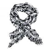 tumundo Tuch Halstuch Schal Crinkle Rundschal Langschal Damen Muster für Top Bluse Jacke, Modell:Modell 6