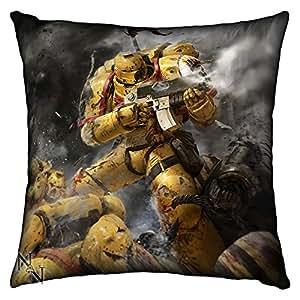 Games Workshop: Warhammer 40,000 Imperial Fists Silk Finish Cushion - 42 cm by Games Workshop: Warhammer 40,000
