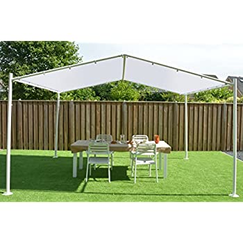pavillon sandfarben 400 x 350 cm 4 x sorara 250 g m polyester uv 50. Black Bedroom Furniture Sets. Home Design Ideas