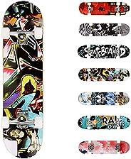 WeSkate Completo Skateboard per Principianti, 80 x 20 cm 7 Strati di Acero Double Kick Deck Concavo Skate Boar