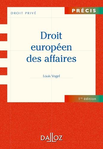Droit européen des affaires (Précis)