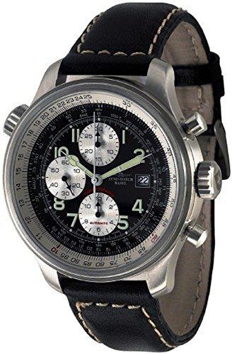 Zeno-Watch Mens Watch – OS Slide Rules Slide Rule Chronograph Date – 8557CALTVD-b1