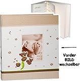 alles-meine.de GmbH XL - Großes Fotoalbum -  Süßer Teddy Bär & Babyfüße  __ mit austauschbaren V..