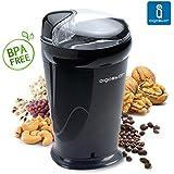 Aigostar Breath 30CFR - Molinillo compacto de café, especias, semillas. 150 watios de potencia. Cuchillas acero inoxidable.