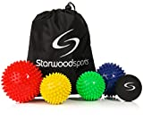 Spiky Massage Ball Rollers and Lacrosse Balls for Myofascial Release and Trigger Point Therapy - Choose a Set or Single Ball