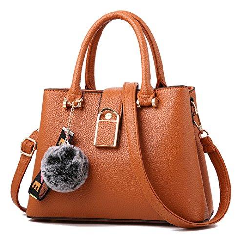 Frauen Taschen Großhandel Schultertasche Handtaschen Lady Diagonal Handtasche brown 28.5x21x12cm