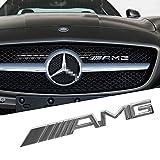 OPAYIXUNGS Métal Chromé avec AMG Logo pour Calandre Avant pour la Grille de calandre