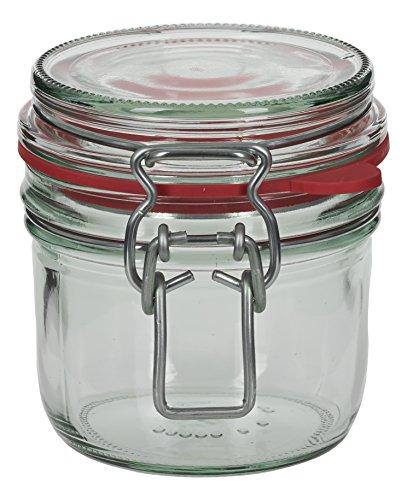 4 x 255 ml Drahtbügelglas / Spannbügelglas rund - inkl. Deckel, Gummidichtung und Spannbügel - Einkochglas - Einweckglas - Einmachglas - Bügelglas - Haushaltsglas - Allzweckglas - Aufbewahrungsglas
