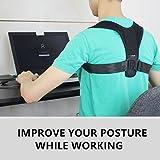 LifenC Verstellbare Haltungskorrektur Geradehalter Schulter Rücken Haltungsbandage Schlüsselbein Schulter unterstützung bei Rücken-und Schulterschmerzen für Männer Frauen kinder und Teenager - 8