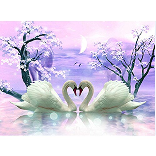 AIHOME 5D Diamond Mosaic Magic Cube Diamond Painting Cross Stitch Dream Swan Lake Diamonds Embroidery