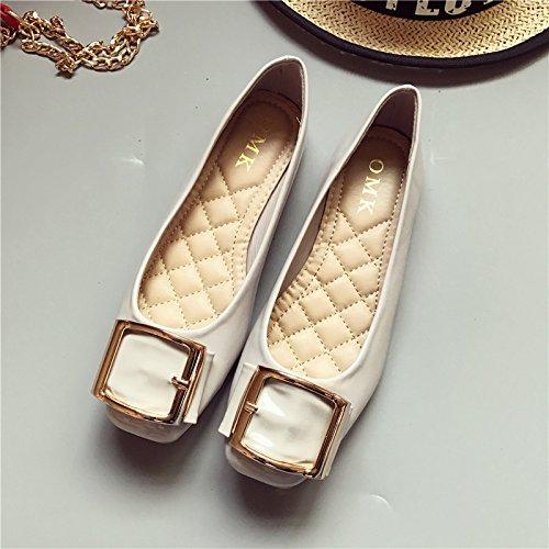 WYMBS Le cadeau le plus intime Le nouveau chef du parti à plat avec un fond plat chaussures chaussures unique des arrangements pour de plus grandes chaussures femmes Gray