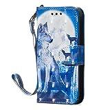 Lomogo Funda iPhone 5S / 5 Funda de Cuero con Cartera para Tarjetas y Cierre Magnetico Carcasa Libro Antigolpes para Apple iPhone5S / iPhone5 / iPhoneSE - LOYYO060009#9