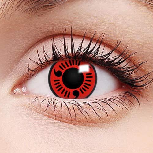 Farbige Kontaktlinsen - Tötlicher Blick - Jahreslinsen Crazy Fasching Naruto Ohne Stärke FUN - Definition des Wortes Schocken