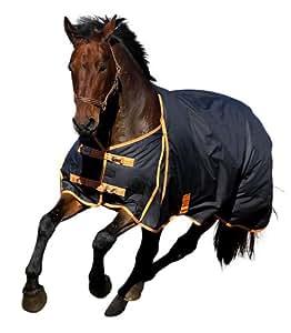 Kerbl 323627 Couverture d'extérieur pour cheval 145cm 300g (Anthracite/orange)