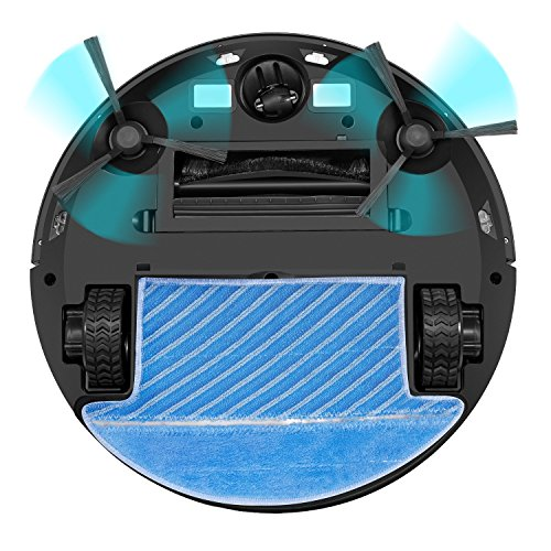 Robot Aspirador de Deik Aspirador Robot 4 en 1con Inteligente Trapear 5 Modos de Limpieza Programable y Autocargador HEPA Filtro y Cepillo Eléctrico