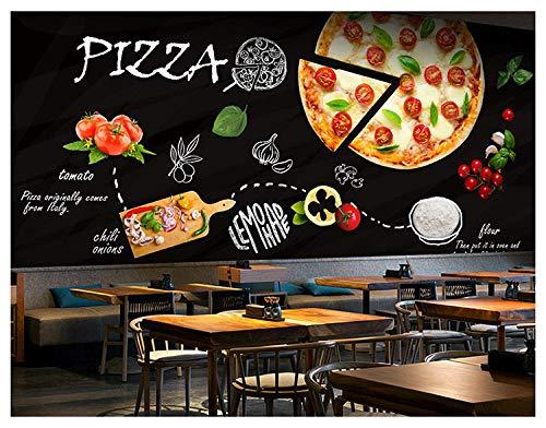 Benutzerdefinierte 3d wandbild tafel graffiti pizza thema tapete westlichen restaurant café tapete wandbild @ 430 * 300 cm