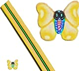 """1 MAXI-STANGE Fimo-depositante #Max-15 """"Diseño de mariposas, colour amarillo"""" ... El marco de aluminio recubierto de lujo arte de uñas para sus dedos uñas!"""