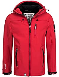 Geographical Norway Tendance–Hombres Softshell chaqueta (XL, negro)