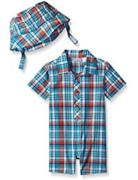 The Children's Place Baby Boys' Stripe Woven Romper
