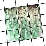 creatisto Deko-Fliesen, Küchen-Fliesen | Fliesenaufkleber Folie Sticker Küche Bad Bordüre Küchendeko | 20x20 cm Design Motiv Plaue Planken - 9 Stück