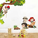 #3: Rawpockets Decal ' Kids Activity ' (Material - PVC Vinyl Matte Finish, Wall Coverage Area - Height 85cm X Width 100cm) ( Pack of 1) Wall Sticker