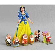 Princesas Disney - Blancanieves y los Siete Enanitos - set 8 figuras-con bolsa de plastica-4-15cm