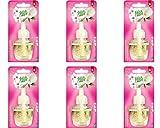 6x Fresh&More Nachfüller für Airwick Duftstecker Nachfüllflakon Magnolie & Kirschblüte - 19ml