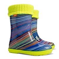 Demar Girls Wellington Boots Rainbow HLP-AH