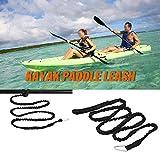 Seimuil 1.5 m Elastico Kayak Paddle guinzaglio Canna da Pesca guinzaglio Corda di Sicurezza Cavo con moschettone Barca a Remi Canoa Accessori,Accessori per Canottaggio