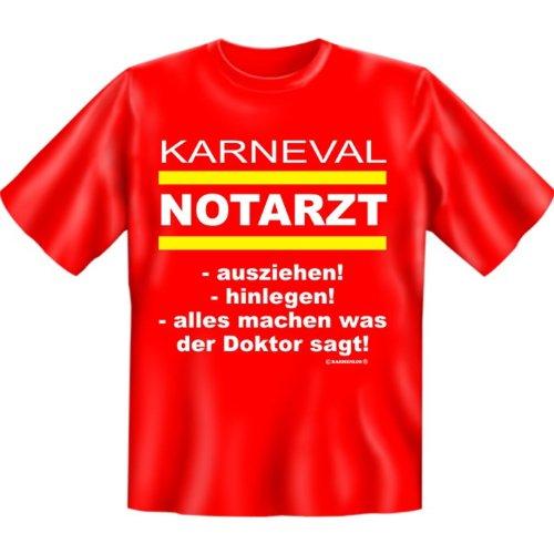 T-Shirt, Karneval Notarzt Pünktlich zur Narrenzeit! Funshirt: Rot