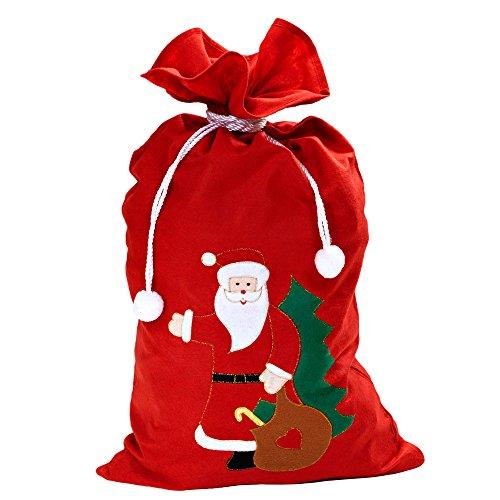 WIDMANN 1617B - Natale Sacco Babbo Natale Decorato, 60 x 100 cm