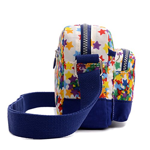 Tiny Chou (TM) Mini leicht wasserdicht Nylon Schultertasche Travel Umhängetasche Messenger Tasche für Mädchen blau