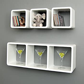 4er Set XL Lounge Cube Regal Design Retro Wandregal