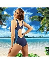 STANTEKS Damen Badeanzug Dunkelblau / Blau Größe: 48
