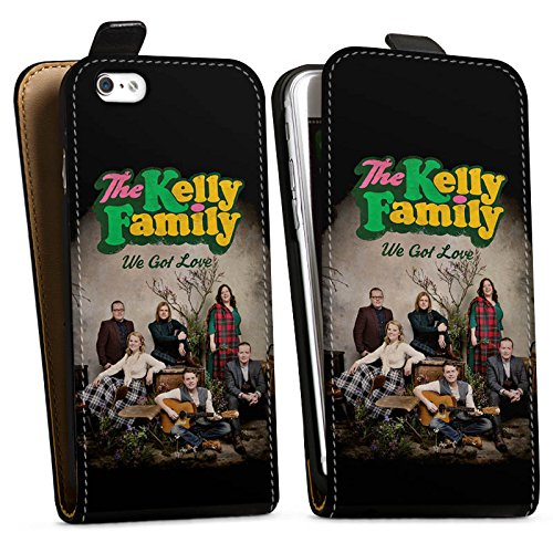 Apple iPhone 6 Plus Silikon Hülle Case Schutzhülle The Kelly Family We got Love Merchandise Downflip Tasche schwarz