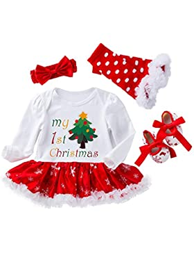 4 stücke Infant Baby Mädchen Strampler Kleider für Weihnachten Halloween Strampler Körper Anzug Outfit Set New...
