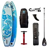 RUNGA PUAAWAI AIR 10.6 Inflatable SUP 25PSI / 1,7Bar max Druck iSUP Stand UP Paddle Board INKL. Bravo DOPPELHUBPUMPE & Teil-Carbon PADDEL