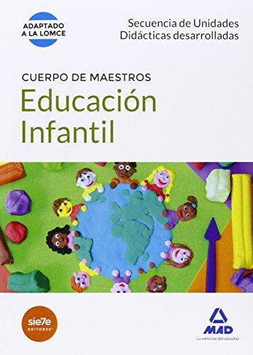 CUERPO DE MAESTROS EDUCACION INFANTIL. SECUENCIA DE UNIDADES DIDACTICAS DESARROLLADAS