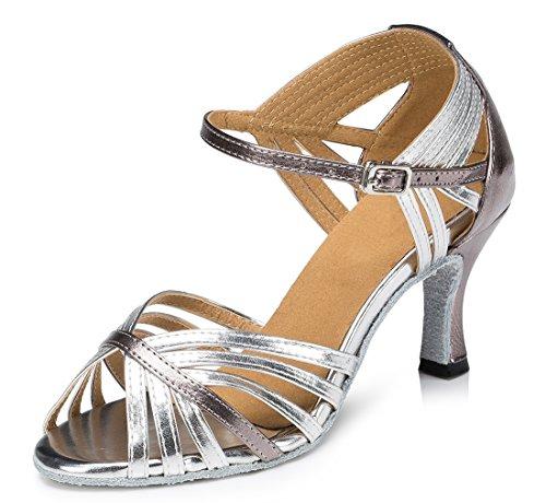 TDA - Peep-Toe donna 7.5cm Heel Silver