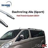 Dachreling Alu (SPORT) für Transit Custom Tourneo F.7 2013> mit TUV ABE