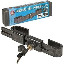 Cerradura ajustable de acero endurecido resistente para seguridad de garaje o almacén.
