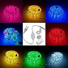 Awesome LED Lichtschlauch Komplett Set Mit Zubehör Lichterkette Beleuchtung Grün  Rot Warmweiß Blau RGB 5 Meter Bis